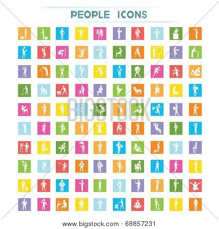 business people icons, flat icons
