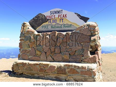 Summit of Pikes Peak, Colorado