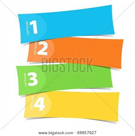 Four color banner template illustration