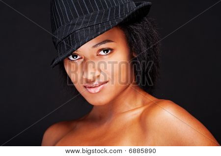 Sexy Young Woman In Hat