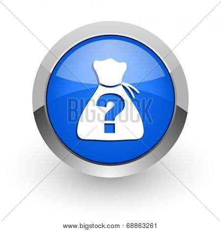 riddle blue glossy web icon