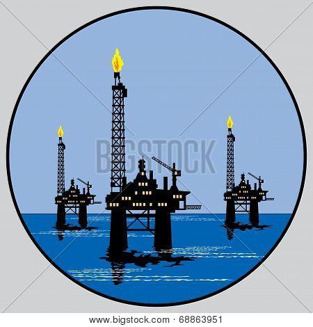 Petroleum Platform Emblem