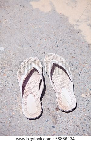 Pair Of Rubber Sandals