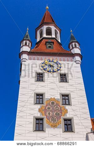 The old town hall architecture in Munich, Germany