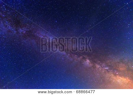 View to Milky Way Galaxy on nigh sky
