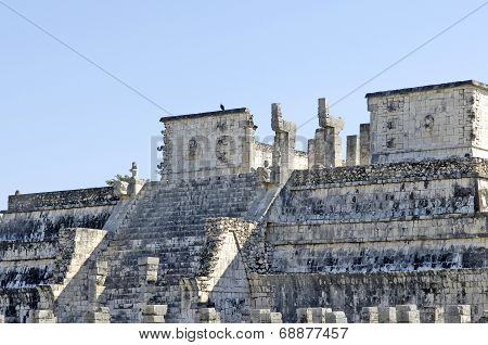 Ancient buildings built by the Mayas