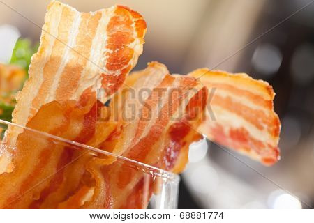 Cooked Greasy Bacon