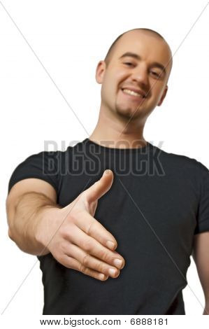 Man Offer Hand