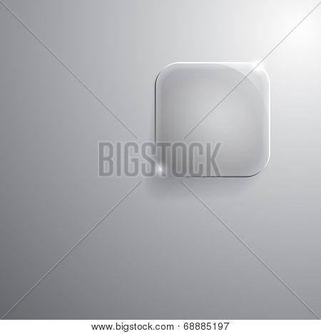 square frame glasses. Vector illustration.