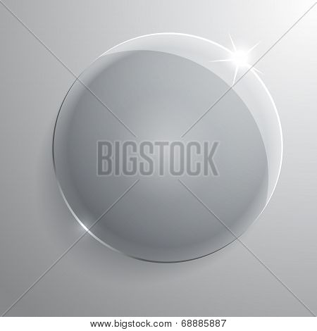 round glass frame. Vector illustration. Eps10