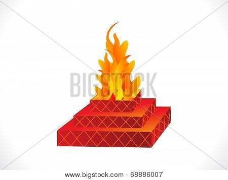 Abstract Indian Traditional  Havan
