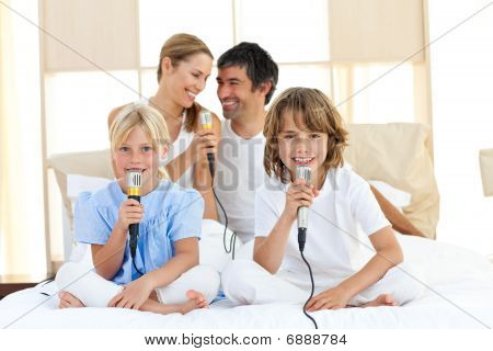 Affectionate Family Singing Together
