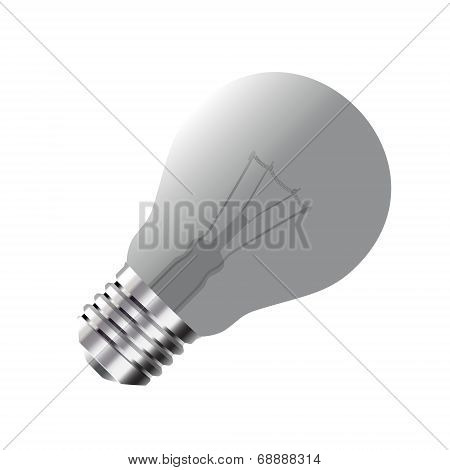 Realistic Light Bulb isolated on white