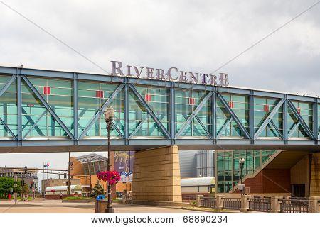 Rivercentre Walkway At Xcel Energy Center
