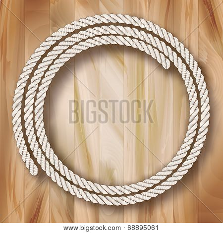Wood Vector Frame Rope Design