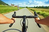 Image of road cycling.
