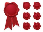 stock photo of wax seal  - Wax seal collection - JPG