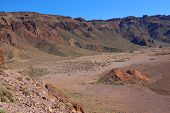 stock photo of deserted island  - deserted landscape of teide national park on tenerife - JPG