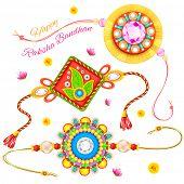 stock photo of rakhi  - illustration of decorative rakhi for Raksha Bandhan - JPG