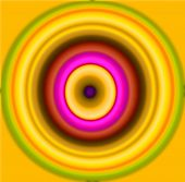 stock photo of hypnotizing  - Nice Hypnotic multicolor and blur circles pattern - JPG