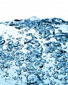 stock photo of h20  - closeup of bubbles in blue water - JPG