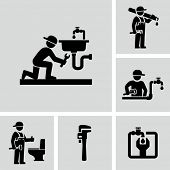 stock photo of plumber  - Plumber icon - JPG