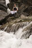 Meditation On A Stream - Short Exposure poster