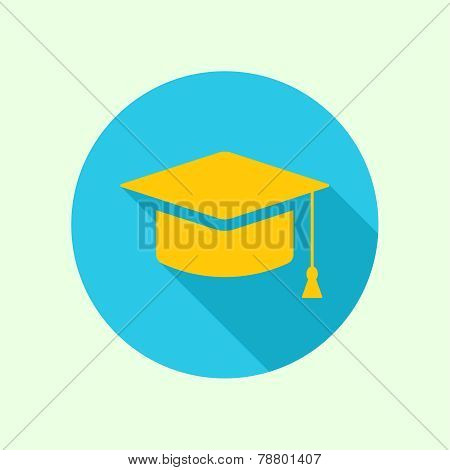 Vector icon of mortarboard or graduation cap