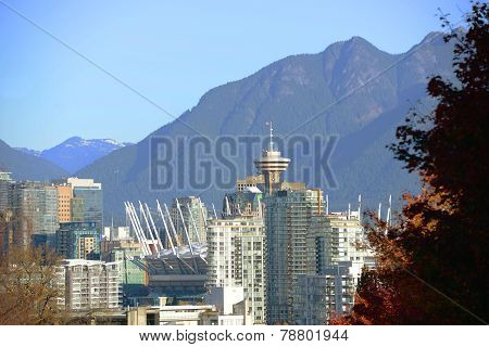 Vancouver City Skyline, BC, Canada