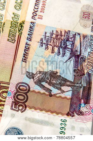 Russian money close-up
