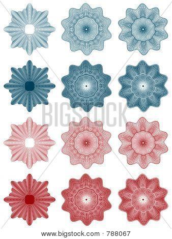 guilloche - rosettes