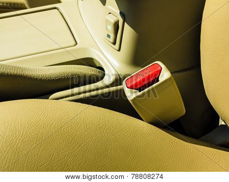 Interior Modern Car Elements, Close-up Of Seat Belt