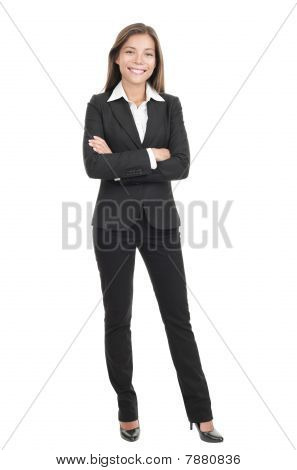 Businesswoman Isolated On White Backgrouund