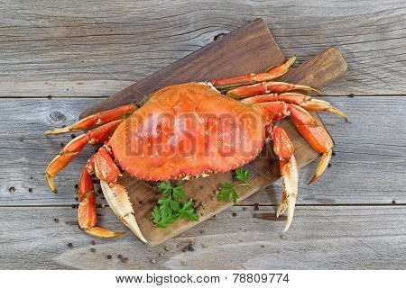 Cooked Crab On Server Board