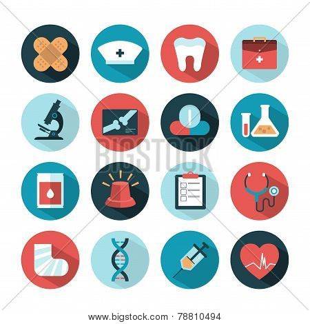 vector health and medical icons