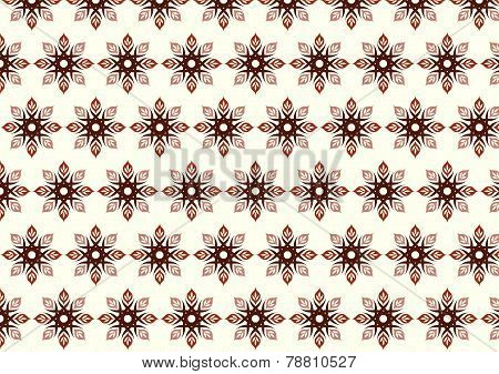 Brown Tribal Bloom And Lobe Pattern On Pastel Background