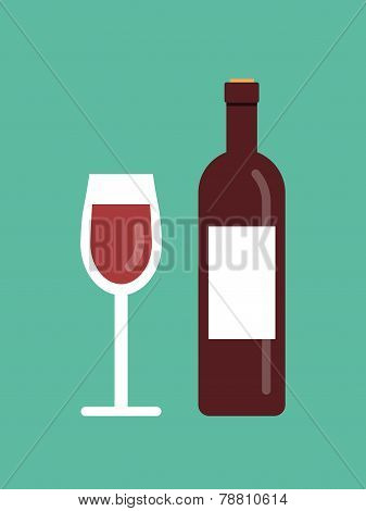 vector wine illustration