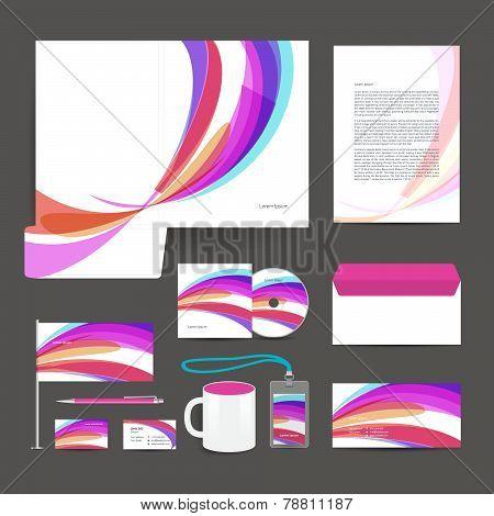 Corporate identity template design stationery.
