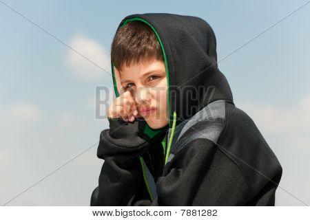 Sad Young Hip-hop Dancer