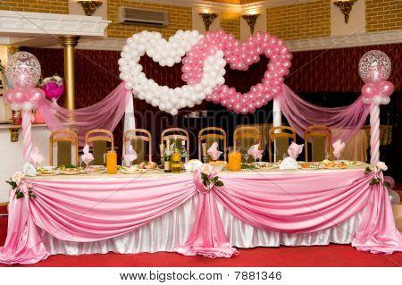Hochzeit Bankett Tisch