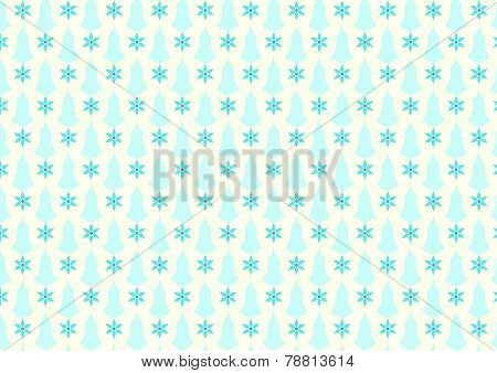Sky Blue Retro Flower And Candlestick Pattern On Pastel Background