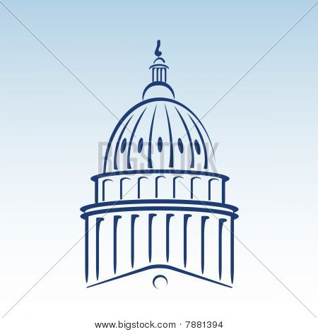 US Capitol Dome Vektor-Illustration