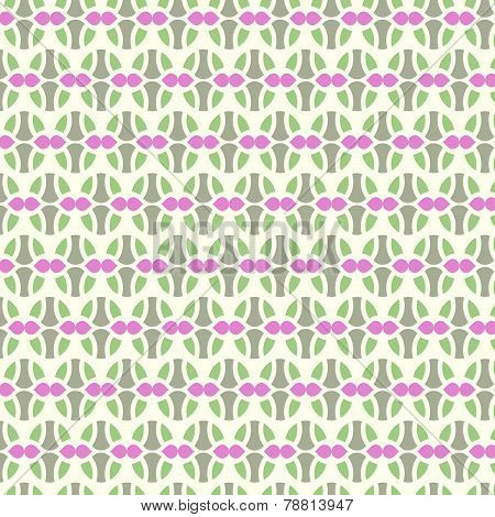 Green Sweet Easter Eggs Pattern On Pastel Background