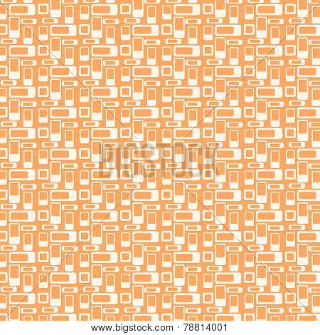 Orange Rounded Corner Rectangle Pattern On Pastel Background