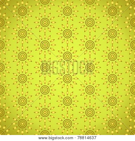 Gold Abstract Circle And Rhomboid Pattern On Pastel Background