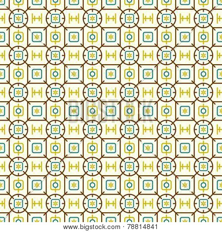 Light Brown Rounded Corner Rectangle And Flower And Line Pattern