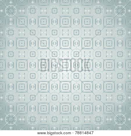 Siver Rounded Corner Rectangle And Flower And Line Pattern