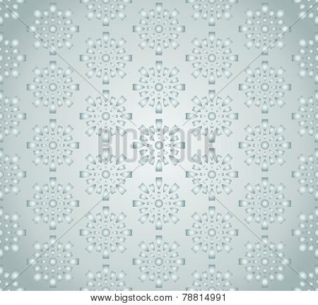 Silver Sweet Fireworks And Circle Pattern On Pastel Background