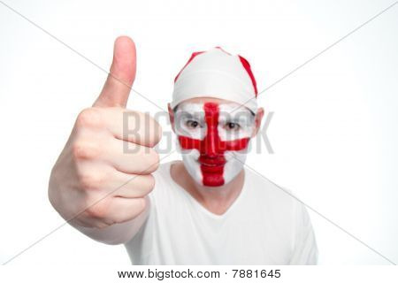 England Fan Doing Thumbs Up