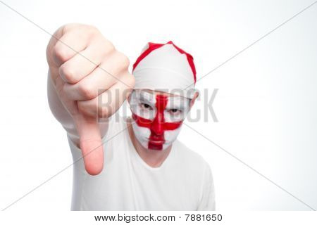 England Fan Doing Thumbs Down